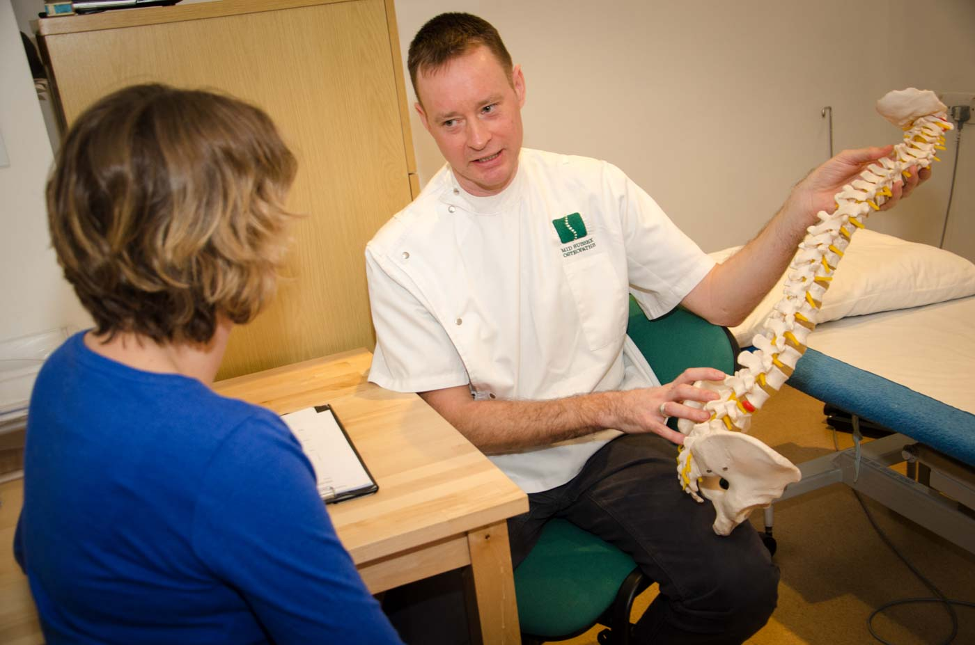 Mid Sussex Osteopaths - Adam with client